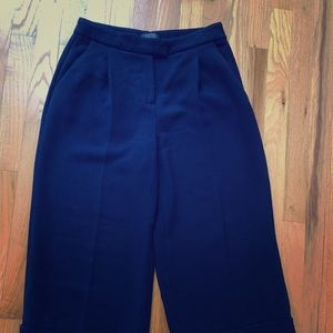 Navy Blue wide leg culotte trousers, size 4